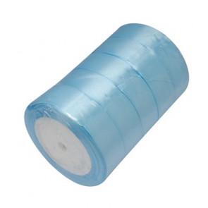 satenast trak svetlo moder, širina: 25 mm, dolžina: 22 m