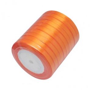 satenast trak oranžen, širina: 6 mm, dolžina: 22 m
