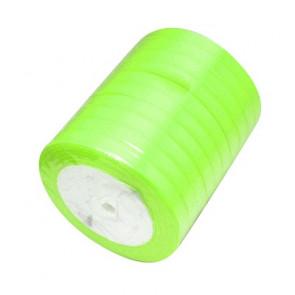 satenast trak zeleno rumen, širina: 6 mm, dolžina: 22 m