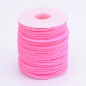 kavčuk osnova (gumi), debelina: 3 mm, roza b., velikost luknje: 1,5 mm, 1 m
