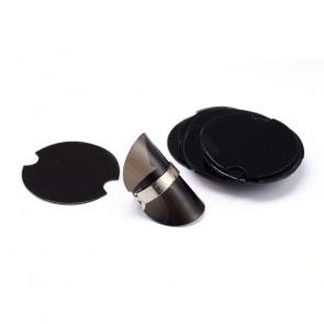 """plastičen """"podstavek"""" za prstan - upogljiv, 38.5x0.8 mm, črne b., 1 kos"""