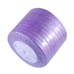satenast trak, Purple - bleščeč, širina: 6 mm, dolžina: 22 m