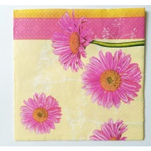 papirnate serviete 33x33 cm, 3-slojne, rože, 1 kos