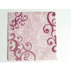 papirnate serviete 33x33 cm, 3-slojne, vijola, 1 kos