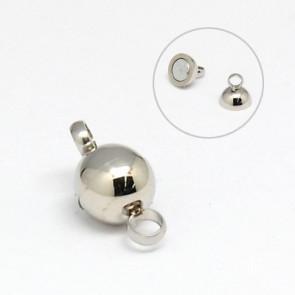 zaključni element 12x5.5 mm, magnet, nerjaveče jeklo, velikost luknje: 1.3 mm, 1 kos