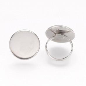 osnova za prstan za kapljico 20 mm, premer nastavljivega obročka: 17 mm, nerjaveče jeklo, 1 kos