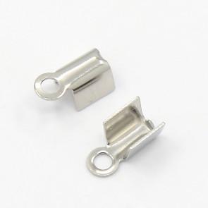 zaključni element za vrvico 10x4.5x4 mm, nerjaveče jeklo, velikost odprtine za vrvico: 3x5 mm, 1 kos