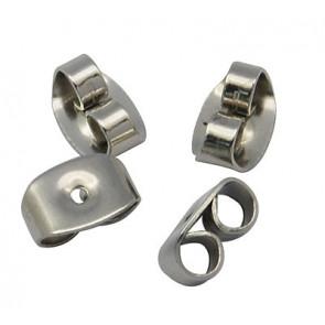 zaključek za uhan 4.5x6.5x3.2, nerjaveče jeklo, velikost luknje: 0.7 mm, 1 kos
