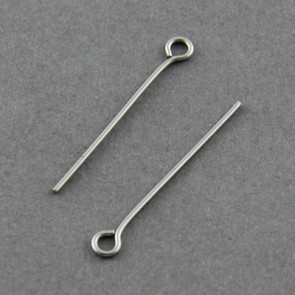 igla za perle z zanko 4 cm, nerjaveče jeklo, 10 kos