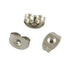 zaključek za uhan 5x3x2.5 mm, nerjaveče jeklo, velikost luknje: 0.6 mm, 1 kos