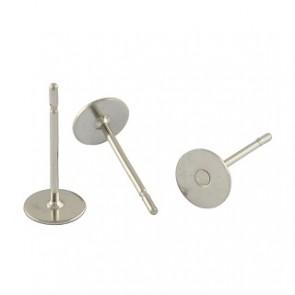 osnova za uhan 12x4x0.7mm, nerjaveče jeklo, velikost ploščice: 4 mm, 10 kos