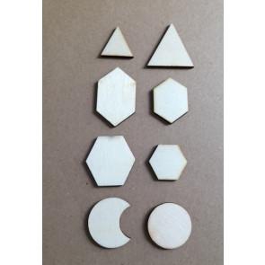 lesena kapljica - mix, 2.5-4.5 cm, 1 kos