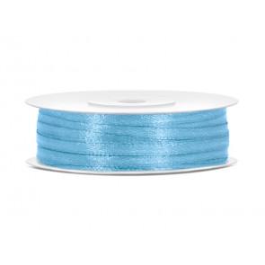 satenast trak, modro nebo, širina: 3 mm, dolžina: 50 m, 1 kos