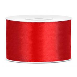 satenast trak, rdeč, širina: 38 mm, dolžina: 25 m, 1 kos