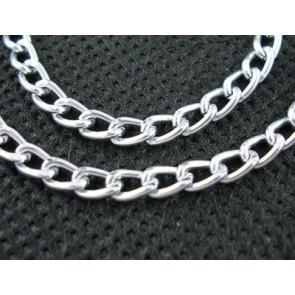 osnova - aluminijasta, 3.5x6 mm, t. srebrne b., 2 m