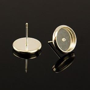 osnova za uhane 14x12x1 mm, srebrne b., brez niklja, velikost kapljice: 10 mm, 1 kos