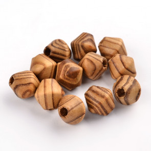 lesene perle, nepravilne oblike, 16x15 mm, luknja 5 mm, 20 kos