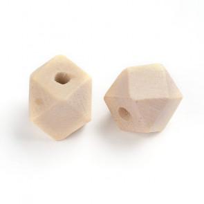 lesene perle, nepravilne oblike, 12x12x12 mm, luknja 4 mm, 20 kos