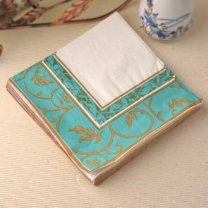 papirnate serviete 33x33 cm, 2-slojne, turkiz, 1 kos