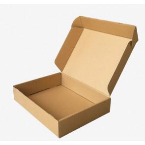 zložljiva škatla iz kartona 37.2x25.2x6 cm, rjava, 1 kos