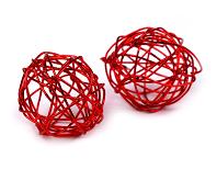 kroglice iz žice 2 cm, rdeče, 1 kos