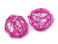 kroglice iz žice 2 cm, roza, 1 kos