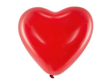 balon, srce, rdeča b., 10 cm, 1 kos