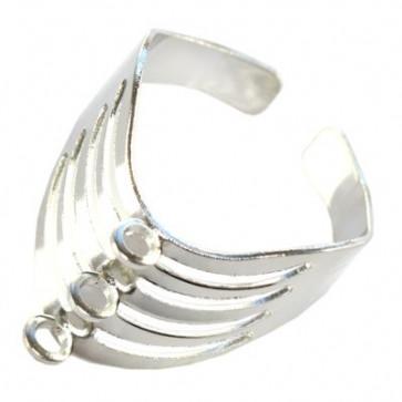 nastavek za prstan, srebrne b., 1 kos
