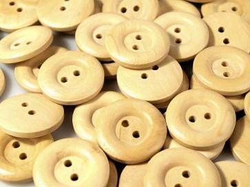 leseni gumb z dvema luknjama,  22,9 mm, 1 kos