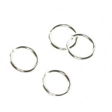 zaključni obroček 5 mm, srebrne barve, 50 gr (cca 1100 kos)