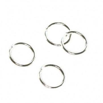 zaključni obroček 6 mm, srebrne barve,  50 g (cca 550 kos)