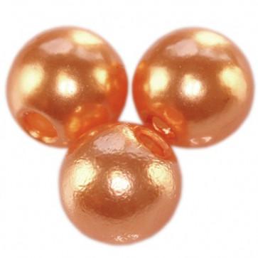 plastične perle okrogle, 6 mm, apricot, 50 gr