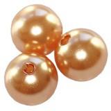 plastične perle okrogle, 8 mm, apricot, 50 gr