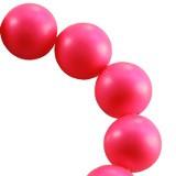 perle Swarovski okrogle, 6 mm, neon pink, 1 kos