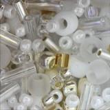 toho perle 1-1,6 mm, hasu-white mix, 25 g