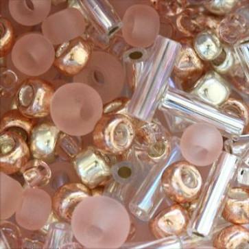 toho perle 1-1,6 mm, bara-rose mix, 25 g