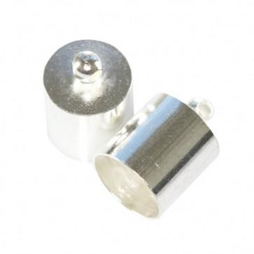 kovinski zaključek 9,3 mm, srebrne b., 1 kos