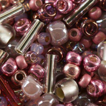 toho perle 1-1,6 mm, hime-pink mix, 25 g