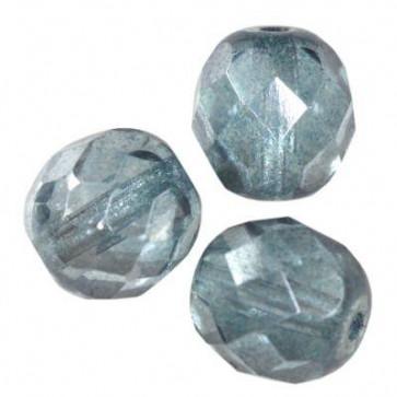 perle - češko steklo 8 mm, light denim blue luster, 10 kos
