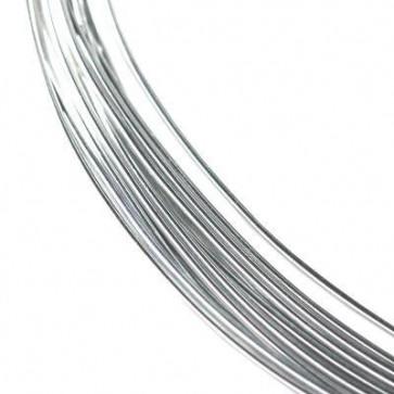 alu barvna žica za oblikovanje, 0.8 mm, srebrna, dolžina: 5 m