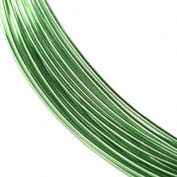 alu barvna žica za oblikovanje, 0.8 mm, zelena, dolžina: 5 m