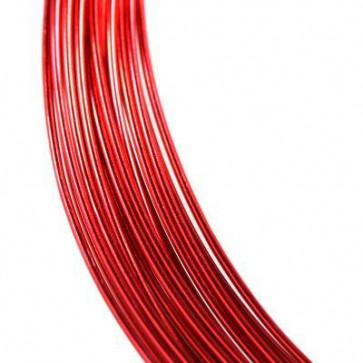 alu barvna žica za oblikovanje, 0.8 mm, rdeča, dolžina: 5 m