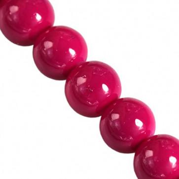 Steklene perle Panacolor, raspbery, 6 mm, 1 niz- 80 cm