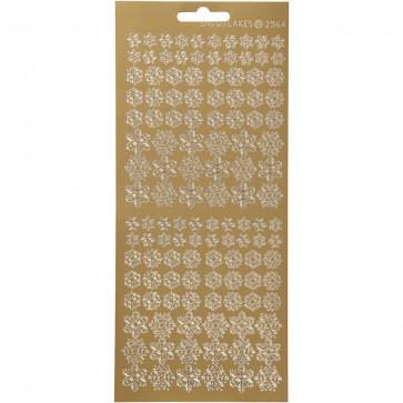 božične nalepke, 10x23 cm, samolepilne, zvezde zlate, 1 pola