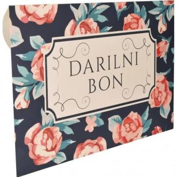 """kuverta za darilne bone """"Rdeče rožice"""", 22x15.5 cm, 1 kos"""