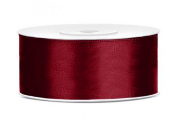 satenast trak, temno rdeč, širina: 25 mm, dolžina: 25 m, 1 kos