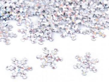 bleščice/božični okrasek - snežinka,  13 mm, srebrne b., 10 g