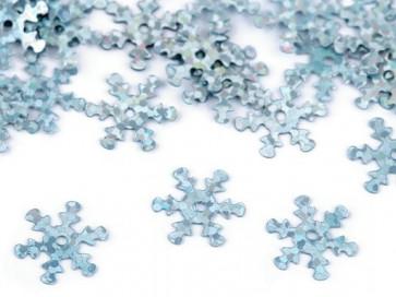 bleščice/božični okrasek - snežinka, 13 mm, turkizne b., 10 g