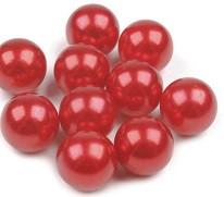 plastične perle brez luknje 10 mm, rdeče, 1 kos