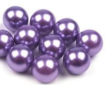 plastične perle brez luknje 10 mm, b. lavande, 1 kos